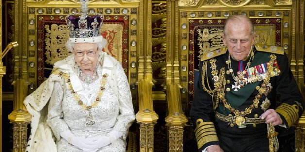 Queen Elizabeth II and the Duke of Edinburgh during the Queens Speech at the State opening of Parliament at the Palace of Westminster in London.