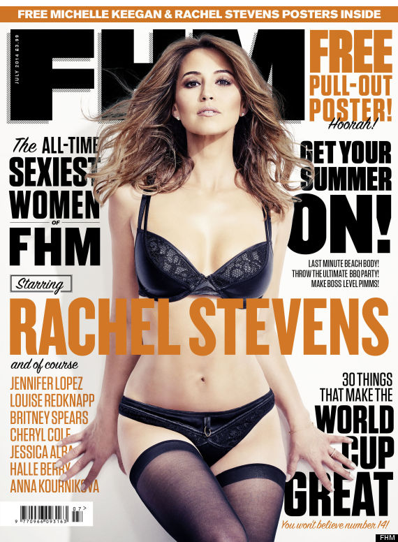 Rachel Stevens Celebrates Being Crowned FHM's Sexiest Woman Of All Time By Posing Topless In Men's Mag (PICS, VIDEO)