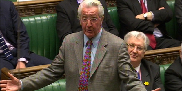 Dennis Skinner MP speaks during a sitting of the house motion in the House of Commons in London as the Government plans to cancel Prime Minister's Questions so that senior ministers can attend Baroness Thatcher's funeral.