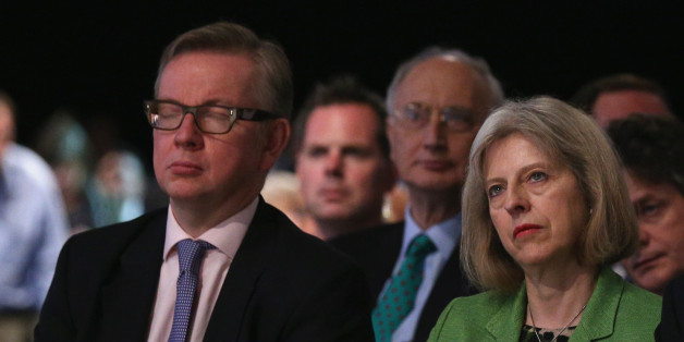 Education Secretary Michael Gove (L) and Home Secretary Theresa May are in dispute over the alleged 'plot' (file photo)