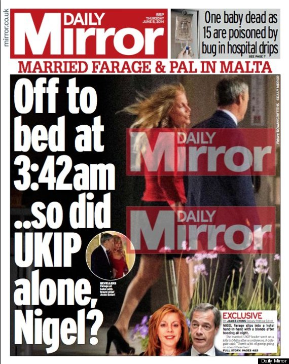 daily mirror nigel farage