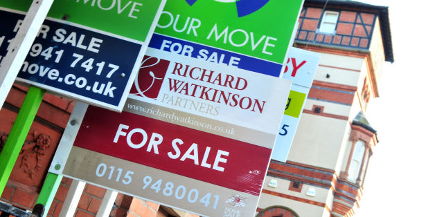 "File photo dated 12/10/10 of for sale signs. The upward pressure on house prices is poised to ""build rapidly"" in the coming months as the gap between demand from buyers and the supply of homes to choose from is at its widest in four years, property analyst Hometrack has reported."