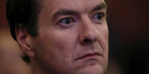 George Osborne, U.K. chancellor of the exchequer, listens to a speaker during the Institute Of International Finance Spring Meeting in London, U.K., on Wednesday, June 4, 2014. U.K. services grew faster than economists forecast in May and confidence about the outlook prompted companies to boost hiring. Photographer: Simon Dawson/Bloomberg via Getty Images