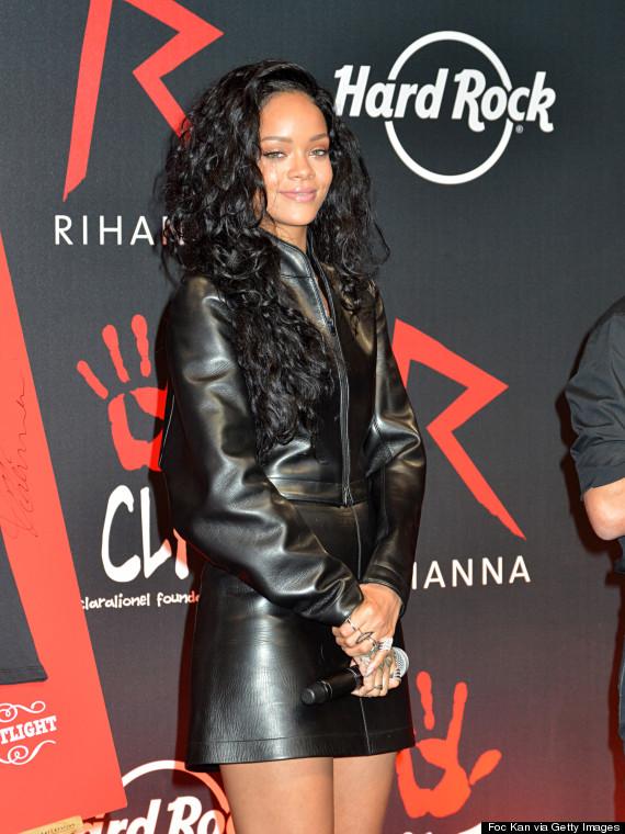 rihanna leather
