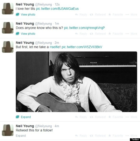 neil young hacked