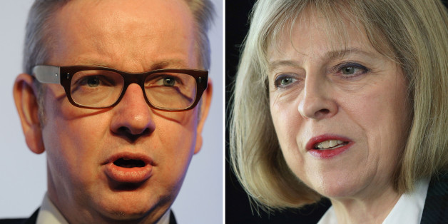 Undated file photos of Education Secretary Michael Gove and Home Secretary Theresa May. May's closest aide has quit and Gove has been forced to apologise as the Prime Minister attempted to end the damaging dispute at the heart of his Cabinet.