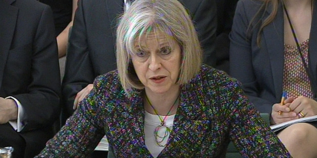 Home Secretary Theresa May gives evidence to Commons Home Affairs Committee at Portcullis House, London.