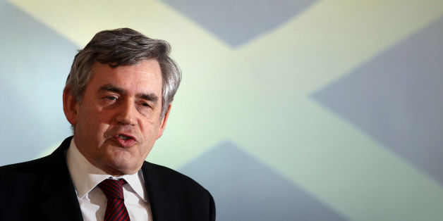 Gordon Brown speaks at the launch of United With Labour, the Labour party's own campaign to keep Scotland in the UK, at the Emirates Arena in Glasgow, Scotland.