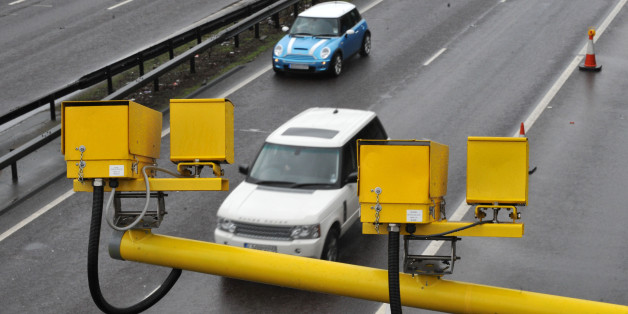 Speed cameras on the A12, in Essex.
