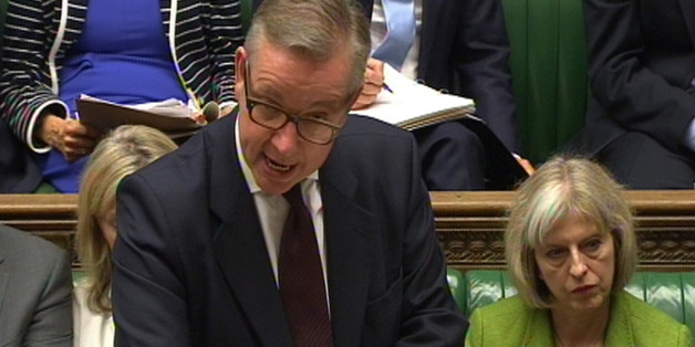 """Education Secretary Michael Gove speaks in the House of Commons, London, after Ofsted placed five Birmingham schools into special measures in the wake of the """"Trojan Horse"""" allegations, as it issued a damning verdict on the running of a number of the city's schools."""