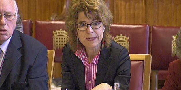 Vicky Pryce gives evidence to a House of Lords inquiry into the eurozone crisis, in the latest bid to rehabilitate her reputation today after being convicted for swapping speeding points with ex-husband Chris Huhne.