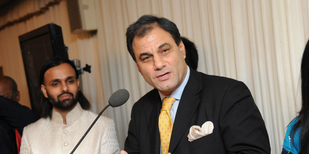 LONDON, UNITED KINGDOM - NOVEMBER 15: Lord Bilimoria attends ceremony to honor Brahmrishi Shree Kumar Swamiji at House of Commons on November 15, 2011 in London, England. (Photo by Stuart Wilson/Getty Images for His Holiness Brahmrishi Shree Kumar Swamiji)