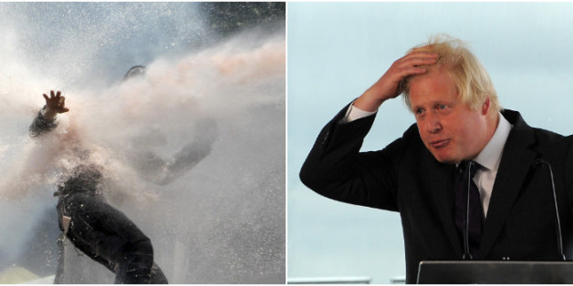 Boris has spent £90,000 of taxpayers' money on the German-built cannons