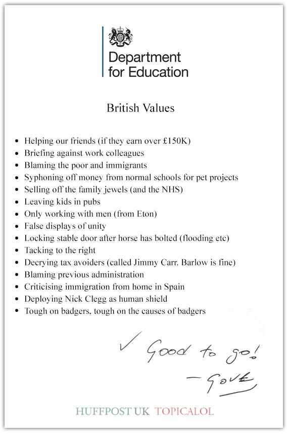 british values michael gove