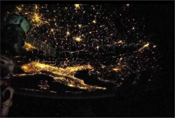italia dal satellite