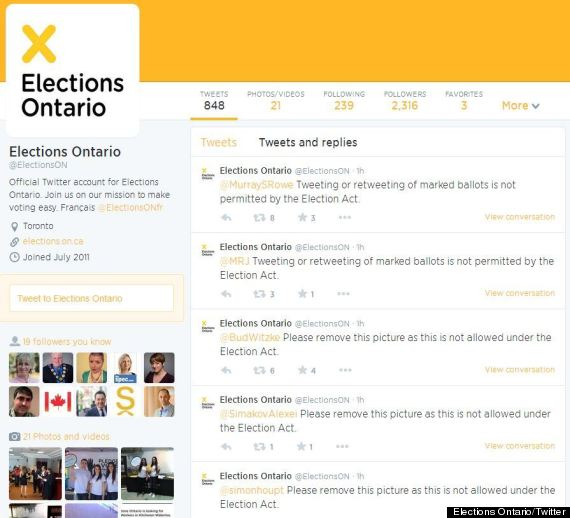 ballot tweets ontario election