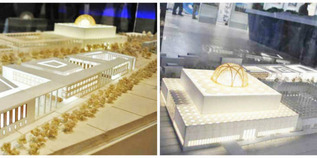 Maquette de la Grande Mosquée d'Alger.