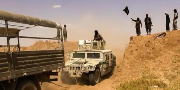Des combattants de l'EIIL à la frontière Syrie-Irak