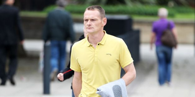 Lee Horner arrives at Leeds Magistrates' Court ahead of his trial where he has admitted owning a dangerous dog called Dollar, that attacked his pregnant girlfriend, Emma Bennett in her own home resulting in her death