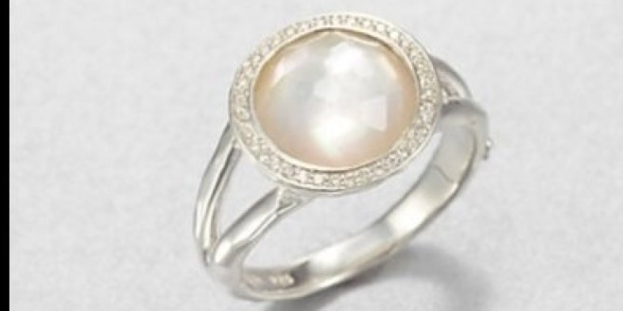 pearls unique mini ring pearl freshwater delicate diamond gold media engagement halo