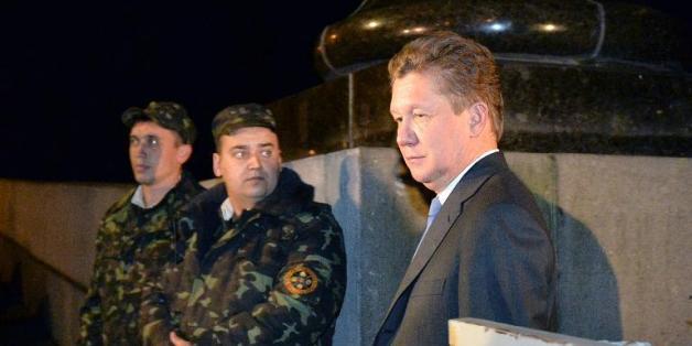 Le directeur général du géant gazier russe Gazprom, Alexeï Miller, à l'issue d'une réunion avec le ministre ukrainien de l'Energie le 16 juin 2014 à Kiev