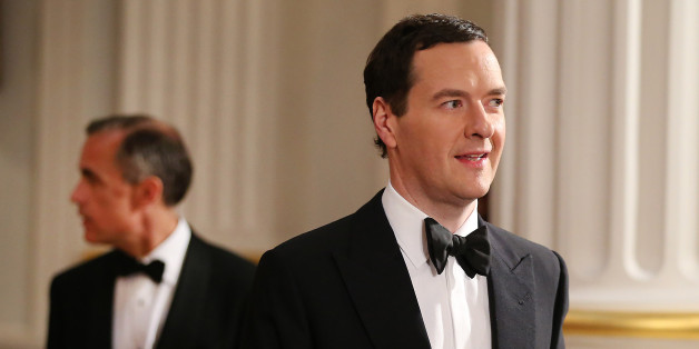 LONDON, ENGLAND - JUNE 12:  Chancellor of the Exchequer George Osborne (R) is followed by Mark Carney, Governor of the Bank of England, as they enter the 'Lord Mayor's Dinner to the Bankers and Merchants of the City of London' at the Mansion House on June 12, 2014 in London, England. In his keynote speech the Chancellor is announcing new measures to tackle 'the unacceptable behaviour of the few and ensure that markets are fair for the many who depend on them'.  (Photo by Peter Macdiarmid - WPA P