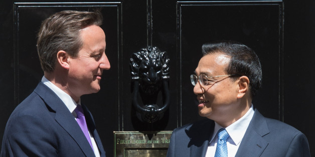 Prime Minister David Cameron leaves 10 Downing Street in London after meeting with his Chinese counterpart Premier Li Keqiang who is on the second of a three day visit to the UK.