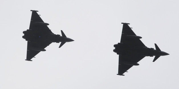 Four RAF Typhoons were scrambled from the Siauliai air base in Lithuania