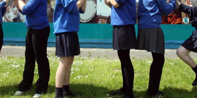 Undated file photos of children wearing their school uniform
