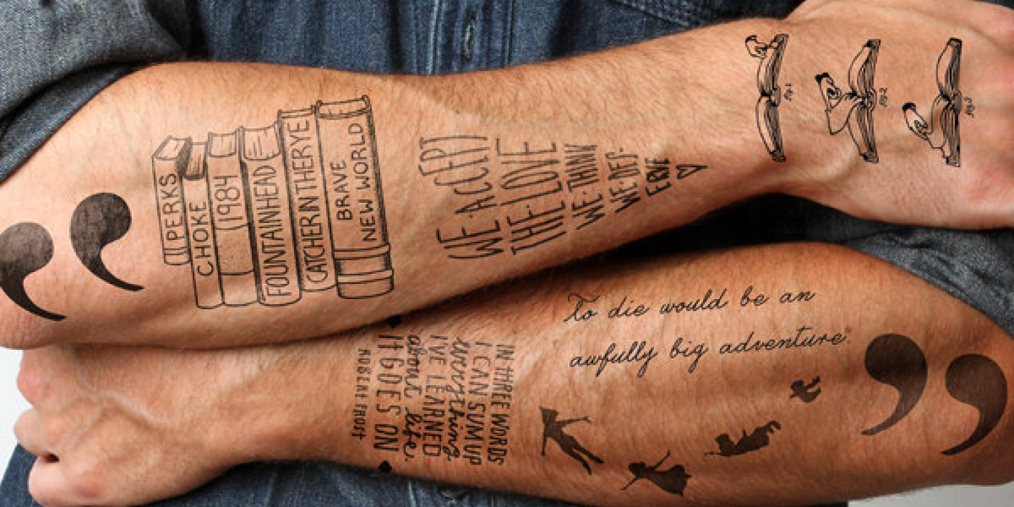 Best Tattoo Quotes About Life 18 Ephemeral Tattoos For Booklovers  Huffpost