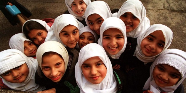 YOUNG STUDENTS AT ISLAMIA PRIMARY SCHOOL IN LONDON, THE FIRST MUSLIM SCHOOL IN THE UK TO BE STATE-FUNDED