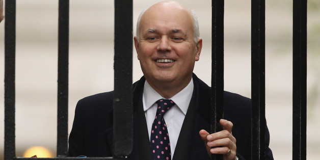 LONDON, ENGLAND - MAY 01:  Work and Pensions Secretary Iain Duncan Smith arrives in Downing Street for a cabinet meeting on May 1, 2012 in London, England. Today's cabinet meeting will be the last of the parliamentary year before meeting again for the State Opening of Parliament on May 9.  (Photo by Dan Kitwood/Getty Images)
