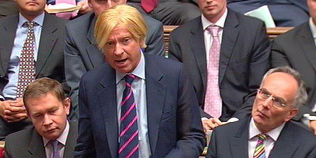 Michael Fabricant MP for Lichfield, speaks during Prime Minister's Questions in the House of Commons.