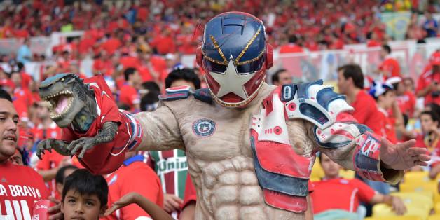 Un supporter Chilien pour le moins original lors de la Coupe du monde 2014 au Brésil