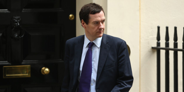 LONDON, ENGLAND - JUNE 09:  Britain's Chancellor of the Exchequer George Osborne leaves 10 Downing Street on June 9, 2014 in London, England. The Education Secretary Michael Gove and and Home Secretary Theresa May were both called to attend a meeting at 10 Downing Street in London today with British Prime Minister David Cameron. The meeting was to discuss the alleged 'extremist takeovers' of schools in Birmingham, and was held on the same day that Ofsted released a report in to Schools at the ce