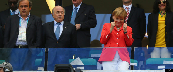 angela merkel germany world cup