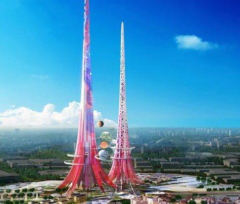 phoenix towers in china sollen h chste t rme der welt werden huffpost deutschland. Black Bedroom Furniture Sets. Home Design Ideas