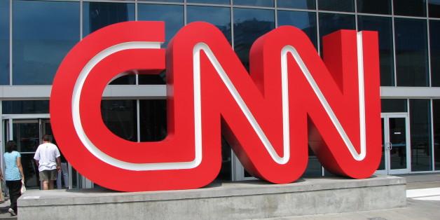 Outside CNN Center in Atlanta, GA