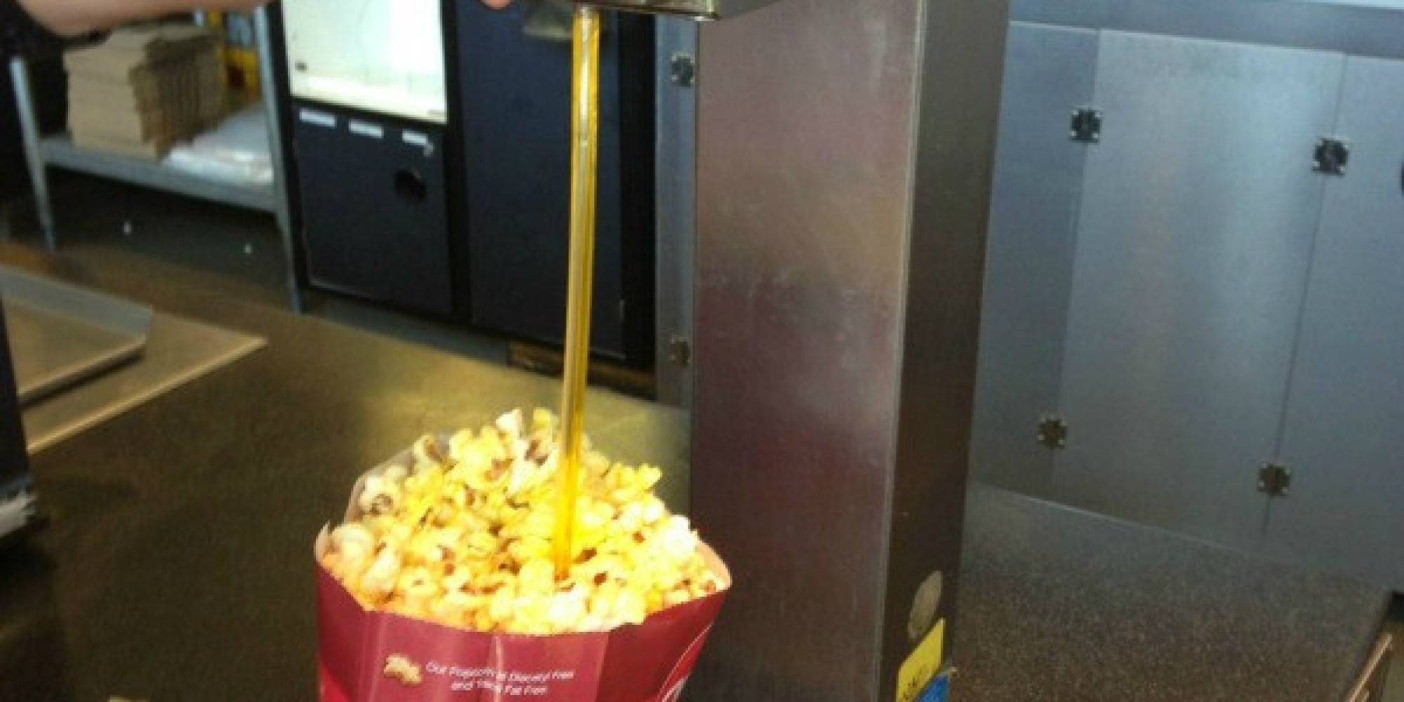 how to get out popcorn butter stains