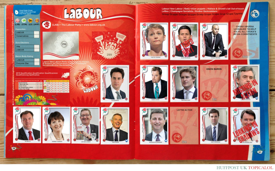 labour panini stickers general election