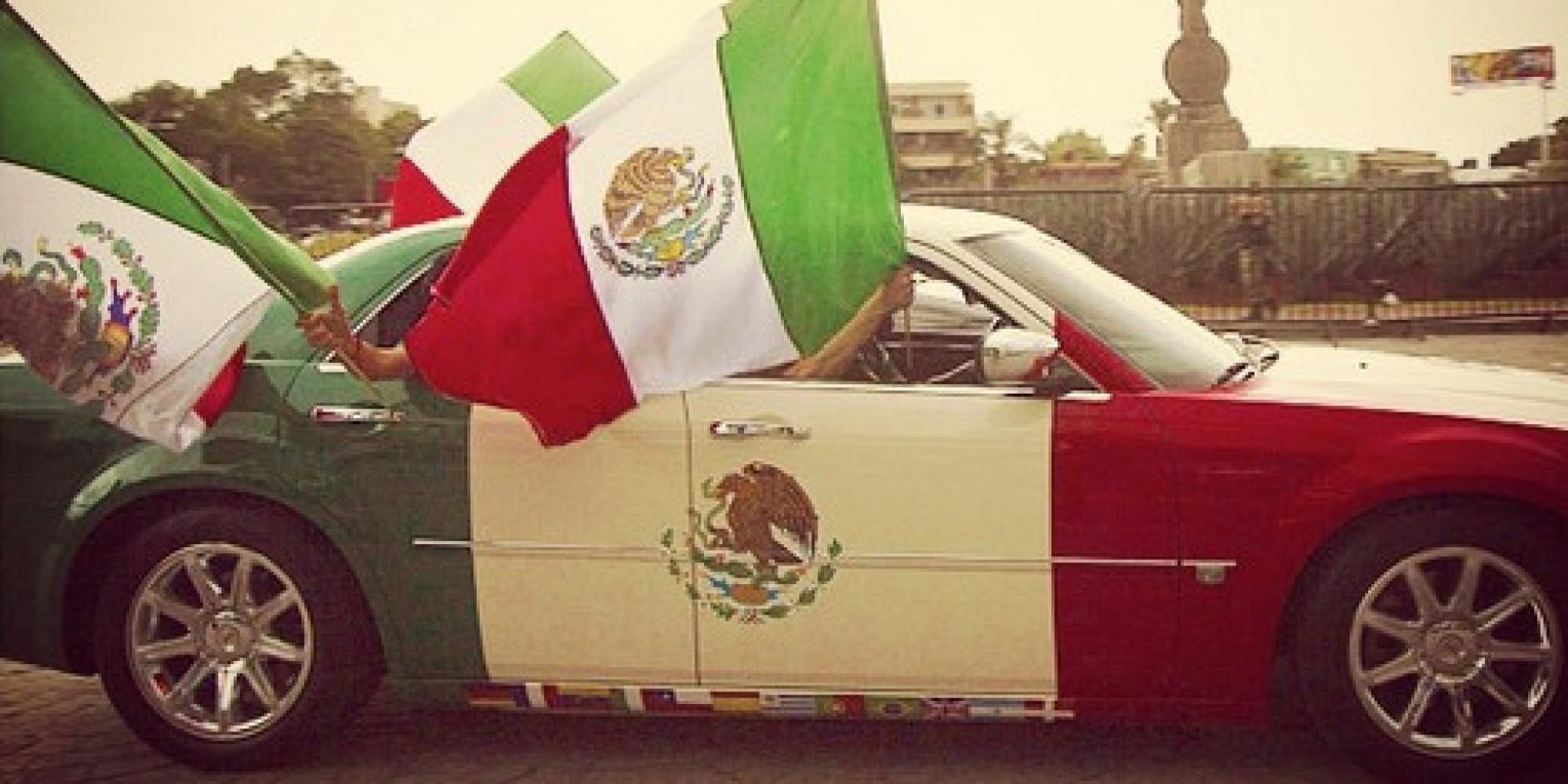 Pintar un auto con los colores de tu bandera es lo más normal que ...