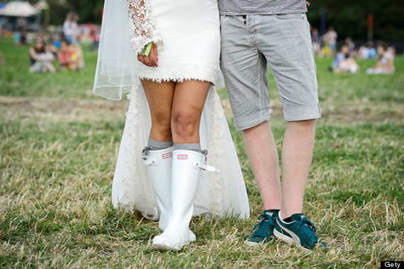 glasto wedding