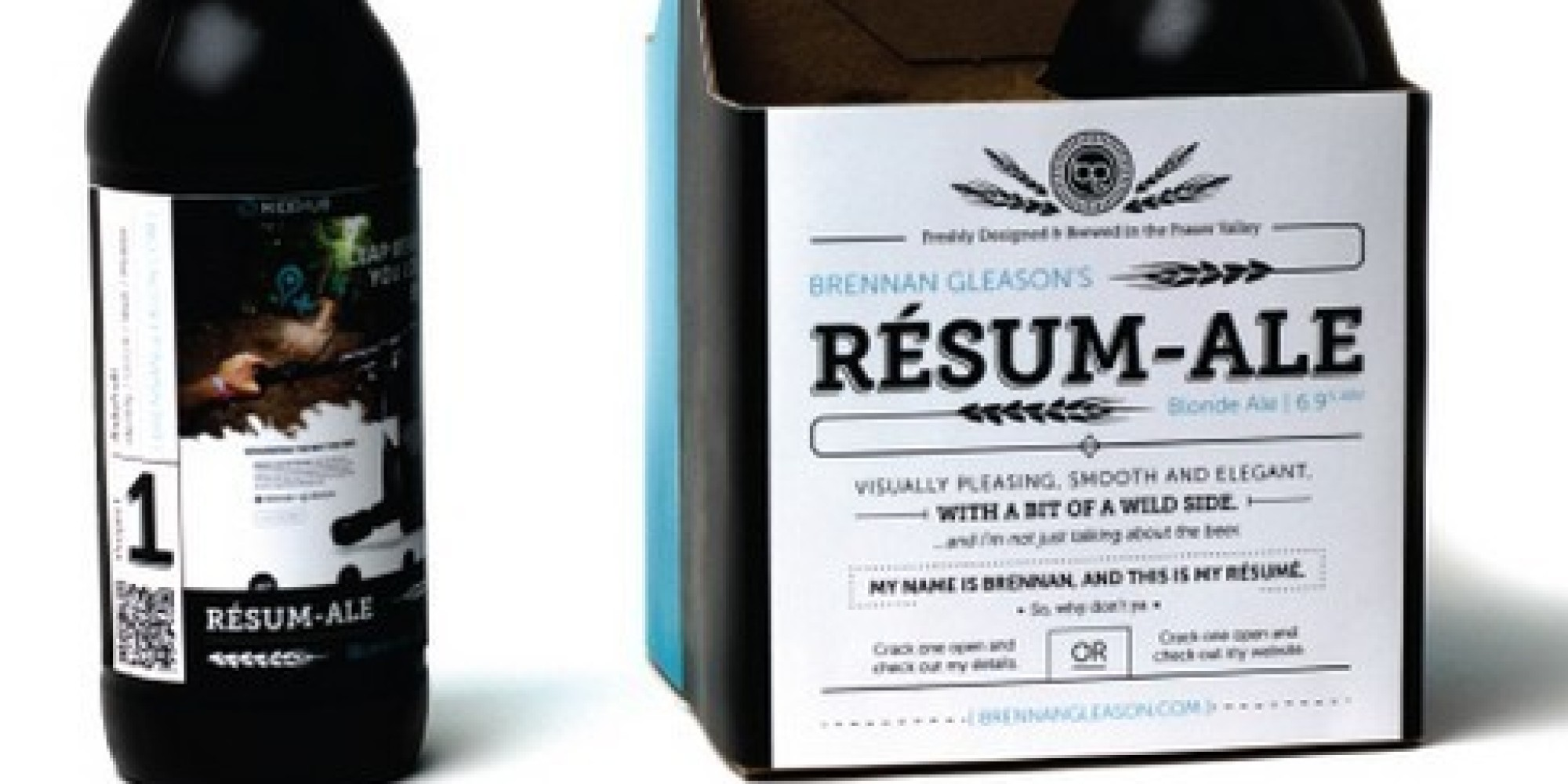 resume Beer Resume this genius printed his resume on beer and got the job huffpost