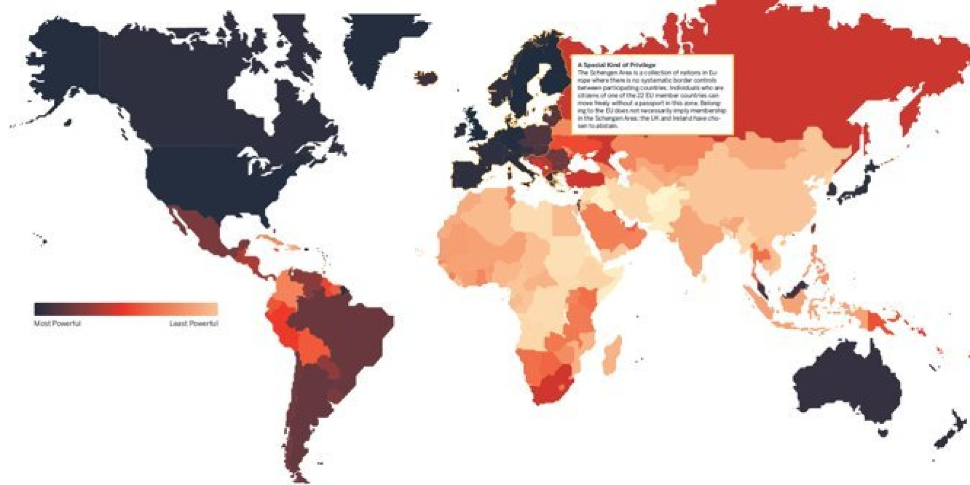 not all passports are created equal as this map will tell you