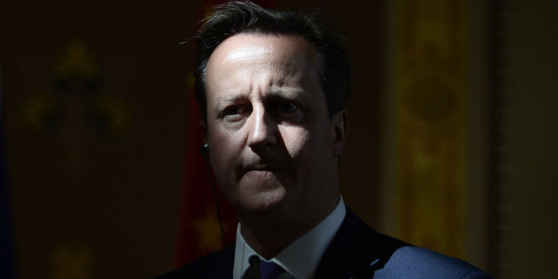 Prime Minister David Cameron during a press conference at the Foreign Office in central London.