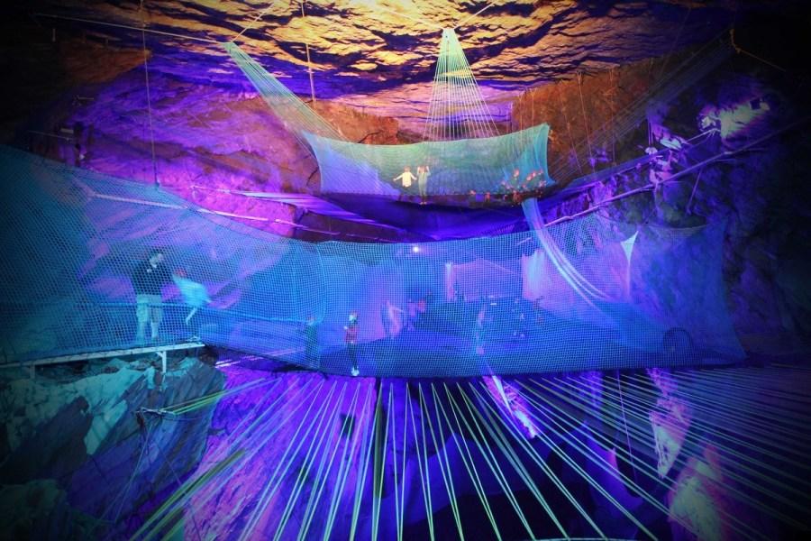 underground trampolining
