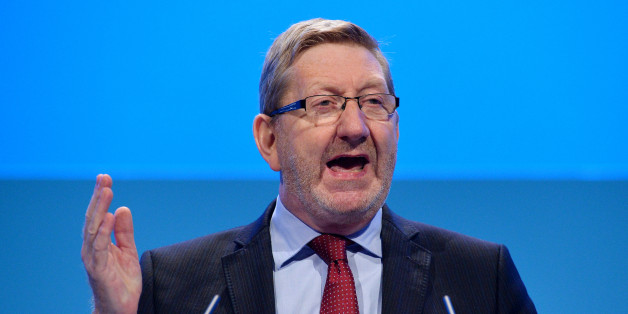 Unite trade union General Secretary Len McCluskey addresses delegates during the second day of the Labour party conference in Brighton, Sussex, south England on September 23, 2013. Britain's main opposition Labour party kicked off its annual conference on September 22 with leader Ed Miliband under pressure amid sliding poll ratings 18 months before a general election.AFP PHOTO / BEN STANSALL        (Photo credit should read BEN STANSALL/AFP/Getty Images)