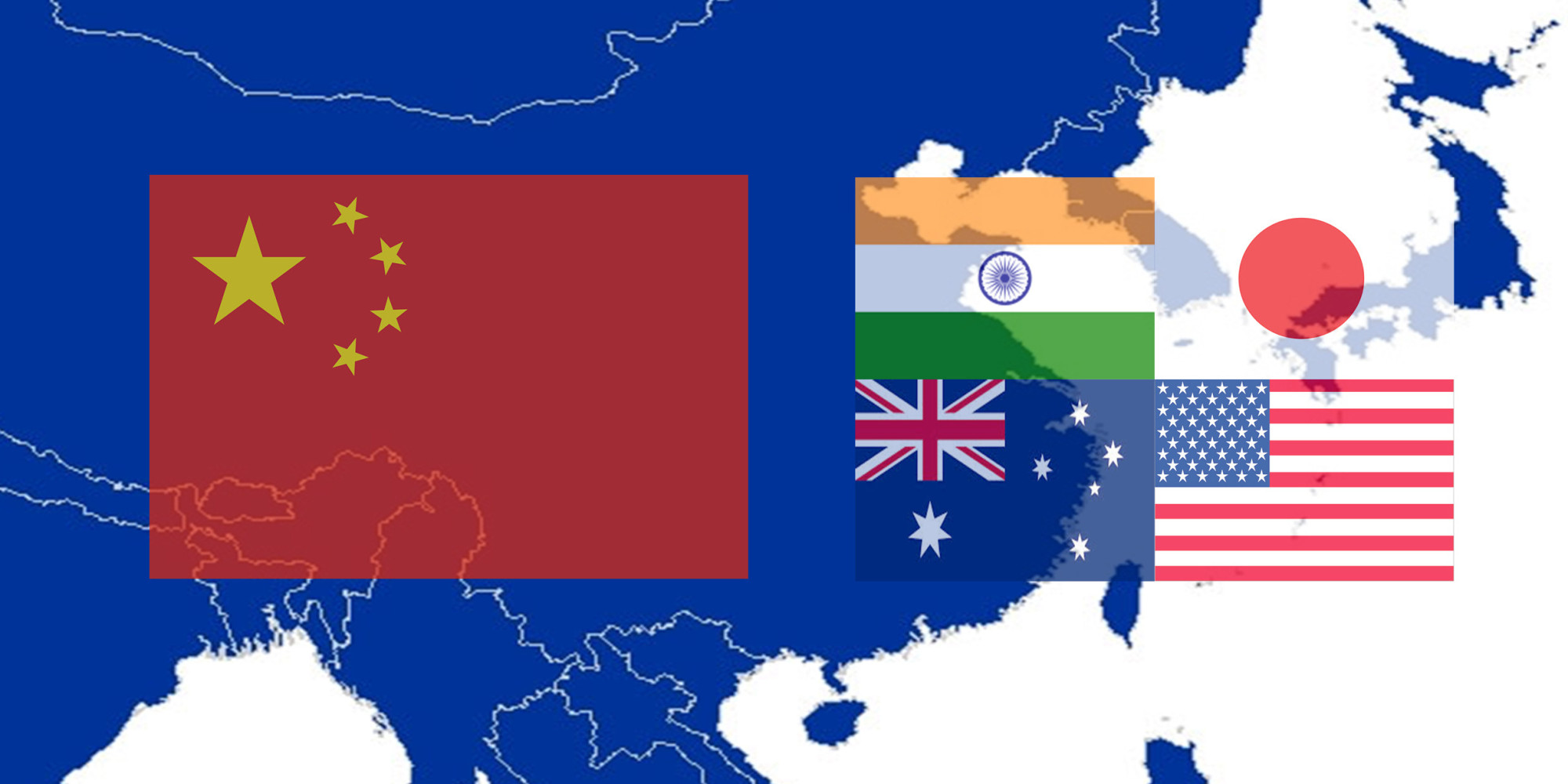 Risultati immagini per india us japan australia