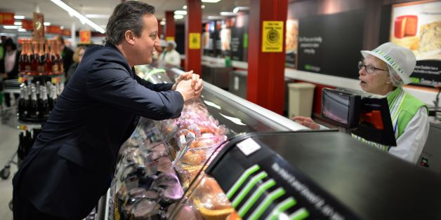 Prime Minister David Cameron meets staff and shoppers at Asda in Clapham, south London, where he discussed the 12,000 new jobs the supermarket chain will create over the next five years.
