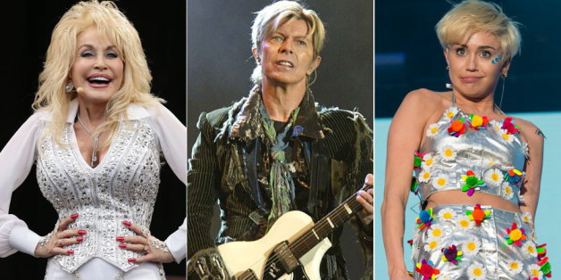 Dolly Parton, David Bowie and Miley Cyrus
